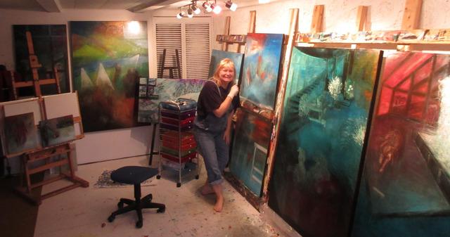 Atelier d'Isabelle Malo, artiste peintre