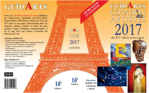 Guid'Arts guide Cotation des Artistes 2017