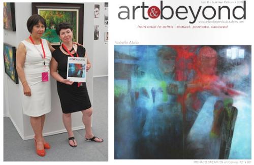 Isabelle MALO, artiste peintre, en page couverture de Art & Beyond